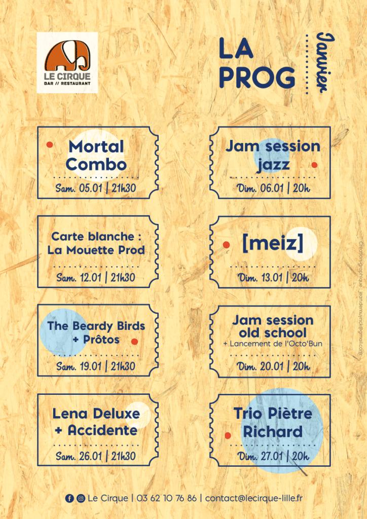 Affiche programme mensuel - 2018